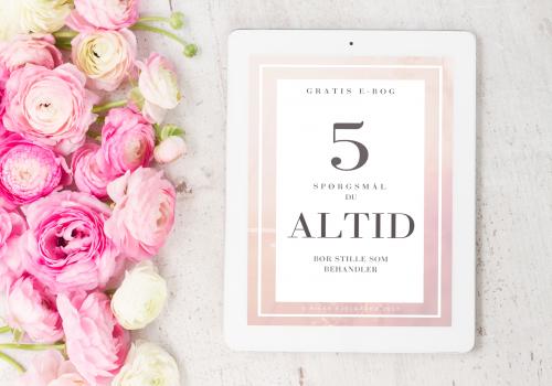 """Gratis e-bog af Rikke Kjelgaard - """"5 spørgsmål du altid bør stille som behandler"""""""