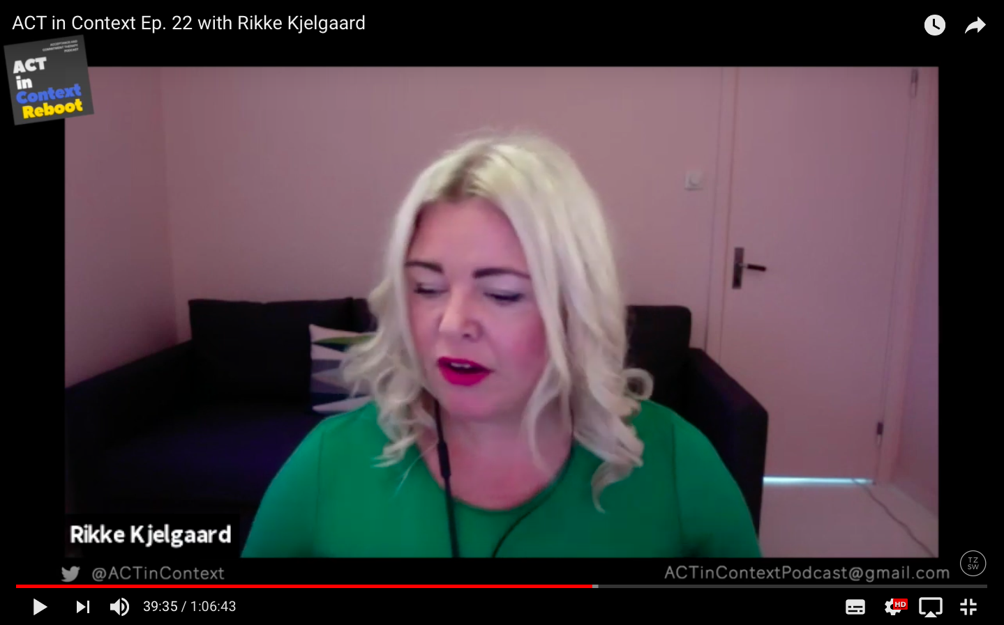 Rikke interviewes for ACT in context vodcast
